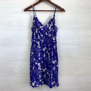 Yumi Kim Jayne 100% Silk Blue Mini Dress